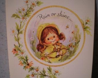 Vintage Unused Greeting Card - Happy Birthday, Good Friend