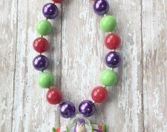 Buzz Lightyear pendant chunky necklace