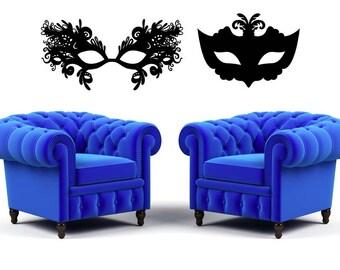 Mardi Gras Mask, Masquerade Mask, Costume Party Decorations, Mardi Gras Decor, Art, Tween Room Decor, Wall Decal, Home Decor, Dorm Decor