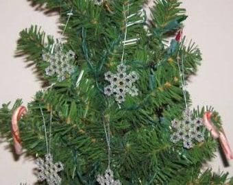 Christmas Snowflakes - beading pattern
