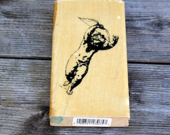 Anita's Wood Mounted Rubber Stamp Home Cupid Angel