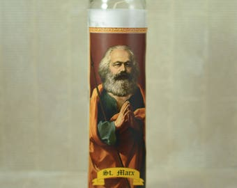 Karl Marx Prayer Candle - Communist Saint Candle - Communism - Philosophy Gift - Political Gift