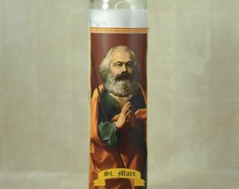 Karl Marx Prayer Candle - Communist Saint Candle - Communism - Philosophy Gift - Political Gift