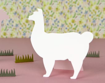 Llama Shaped Place Cards Set of 24