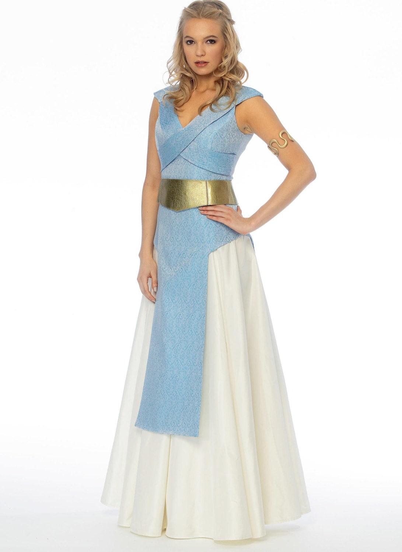 Sewing Pattern Princess Warrior Fantasy Costume Pattern, Cosplay ...