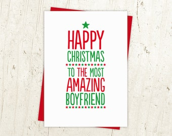 Most Amazing Boyfriend Christmas Card