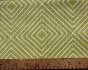 35 Inches - Textured Basics - Diamonds in Lime - Patty Young for MIchael Miller - Lime Green, White