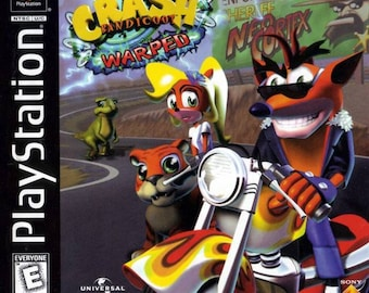 Crash Bandicoot Warped PS1 Great Condition Complete Fast Shipping