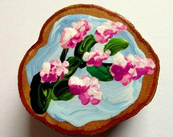 Magnet Hand-painted Art Apple Blossoms