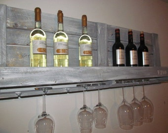 "Industrial pallet ""VINO"" wine rack range furniture"