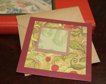 Enceinte/embellissement cadeau carte carte/journalisation carte carré