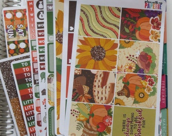 Thanksgiving Full Deluxe Kit Sized to Fit Erin Condren Life Planner Planner Stickers