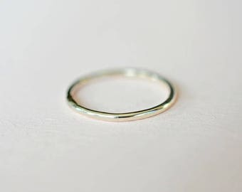 Silver smooth ring, stacking ring, stackable ring, thin ring, skinny ring, minimalist ring, one sterling silver stacking ring, dainty ring
