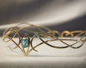 Elf jewelry - Elven diadem - Elven crown - Wedding tiara - Elfish accessory -Elven circlet - Jewelry Diadem - fantasy wedding Freya
