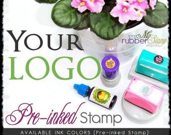 Logo Stamp • Your LOGO & Design (Self Inking Stamp / Pre-Inked Stamp) Stamping • Card Making • Packaging • Branding • Marketing (P2602)