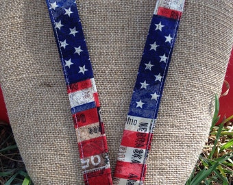 History Teacher U.S. Government USA Flag Lanyard ID Holder Badge Holder. United States of America Red, White and Blue. Stars and Stripes