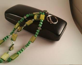 Green Beaded Key Chain