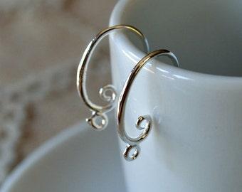 20pcs 10 Pair Earhooks Silver Brass 17mm Fishhook French Hook 18 Gauge Earhook Earwire