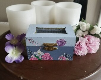 Small flower box, jewelry box, OOAK, memento box, memory box, free shipping in US