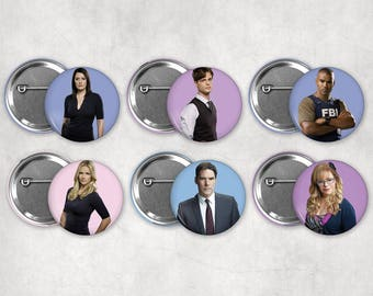 1.25in Criminal Minds Characters Buttons