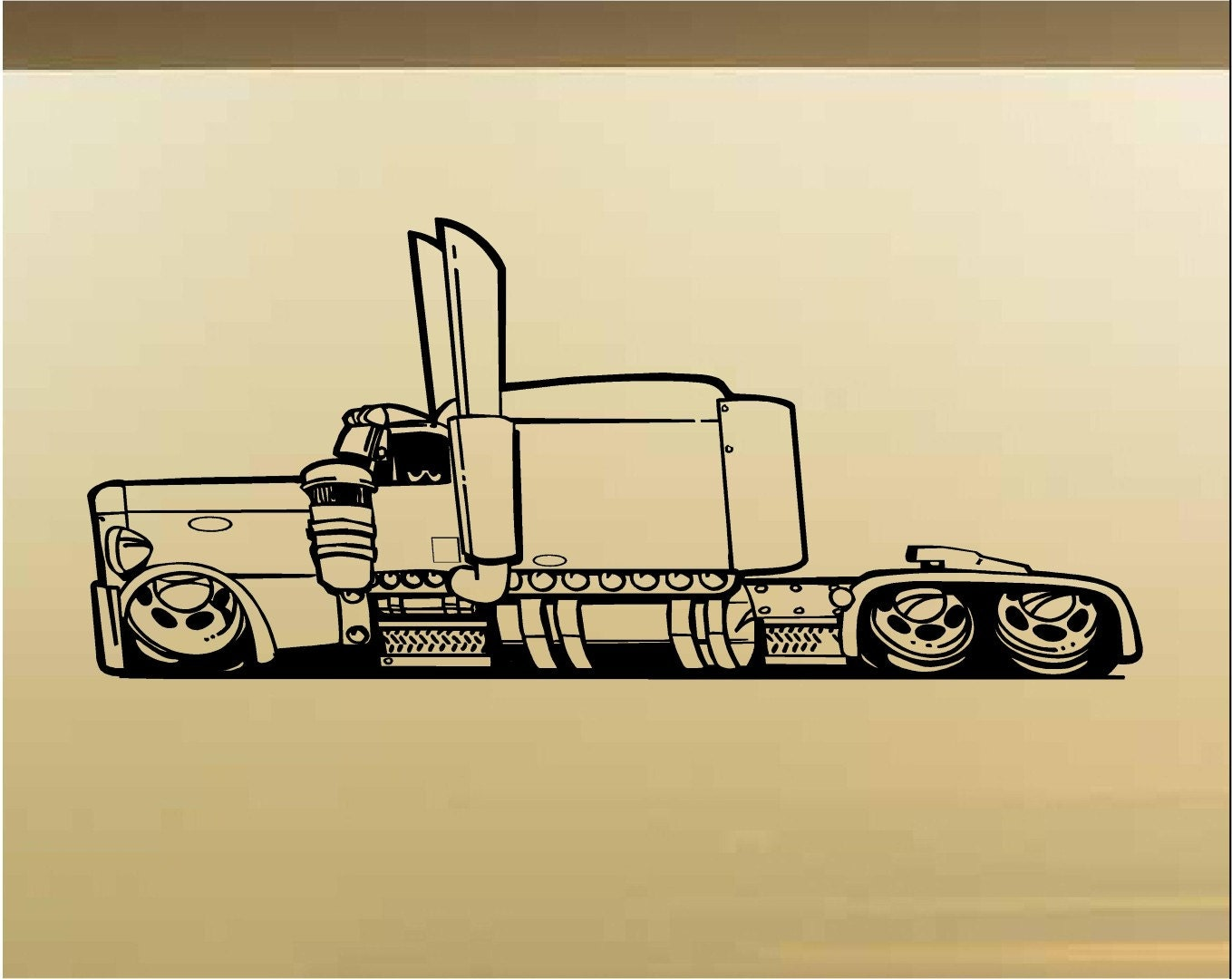Low Rider Semi Truck Car Wall Decal Muscle Car Decals Muscle