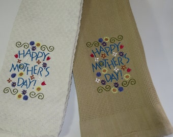 Happy Mother's Day! Dish towels for mothers day. Mothers day gift. Happy Mother's day on a dish towel, gift for Mother's day