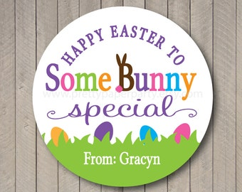 Custom Easter Bunny Tags - Personalized