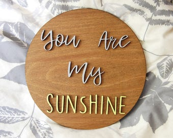 You Are My Sunshine Bedroom Decor, Wooden Sign, Rustic Quote, Cute Kids Bedroom, Bathroom, Lasered Sign, Nursey Decor