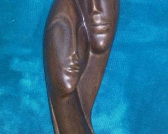 Pottery couple sculpture