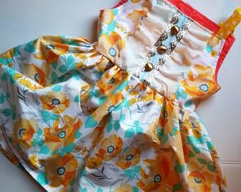 Girls size 8 Easter dress, ready to ship, girls floral dress, girls spring dress, girls summer dress, boutique dress