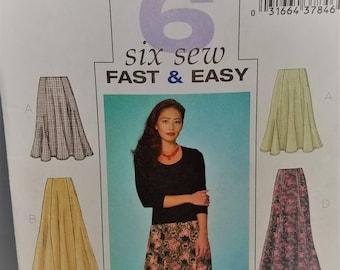 Butterick Pattern # 4136 Fast n Easy Petite Skirt Size 14-16-18