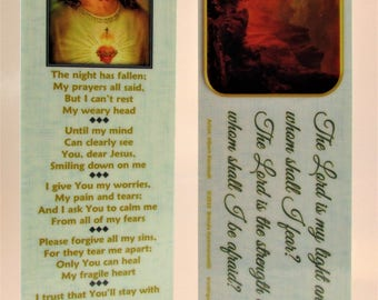 Night Prayer (My Best Friend) Jesus Bookmark~Calming Christian Gift for Terminal Illness, Anxiety, Infirm, Cancer, Surgery or Depression