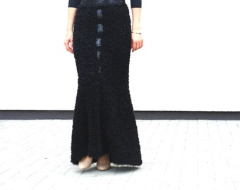 Mermaid Black Maxi Skirt