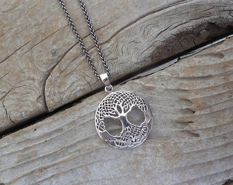 ON SALE Celtic tree of life necklace handmade in sterling silver 925