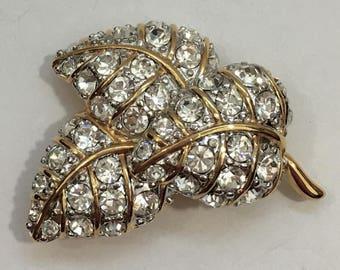 Nolan Miller Aspen Leaf Brooch and Earrings
