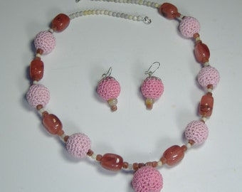 Necklace and Earrings set  J115