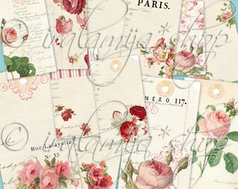 LETTER BOX TAgS collage Digital Images  -printable download  file-