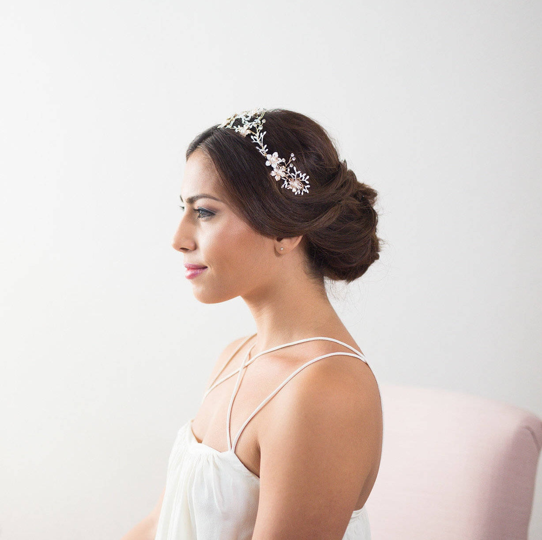 Wedding Hair Vine White Bridal Hairpiece Wedding Headband