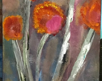 """Wild flowers. 12 x 24"""" 1 1/2"""" gallery wrapped."""
