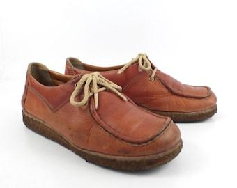 Cobbies Oxford Shoes Vintage 1970s Leather  Wedge Gum Sole