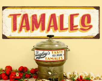Tamales Mexican Food Wall Decal Cream - #62814