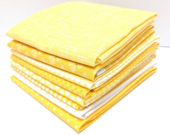 Yellow Fat Quarter Bundle - 8 FQ's