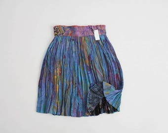 abstract artist skirt | crinkle skirt | impressionist print