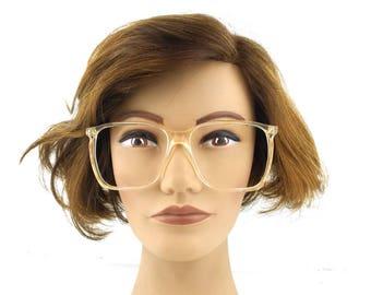 eyeglasses. for women. oversize. round. clear. gold. square. vintage. eye glasses. eyeglass frames. plastic frames. unisex. men. 53[]20 140