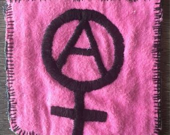 Pink anarchy-feminist patch