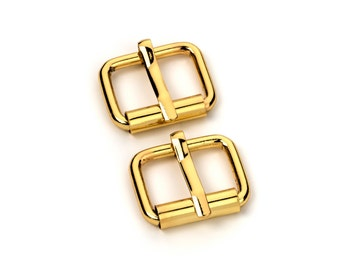 """50pcs - 5/8"""" Roller Pin Belt Buckles - Gold - Free Shipping (ROLLER BUCKLE RBK-105)"""