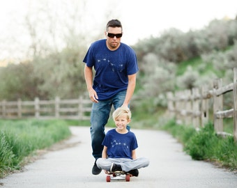 Father Son Matching Shirts, Dad and Baby Kids Gift Men, Father Daughter Dad and Son Shirts, Big Dipper Little Dipper T Shirt Set