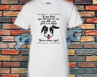 Food and Puppy Ladies Tee