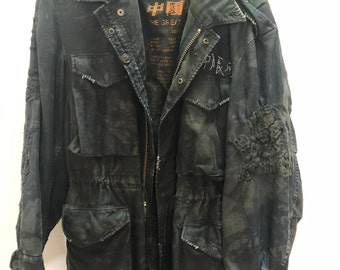 Custom Vintage GREAT CHINA WALL Camo Jacket