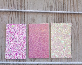 Set of 3 Snap Clips   Pink